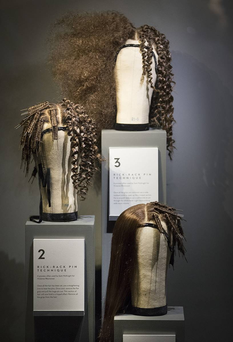 01/11/2016. London, UK. The 'Hair by Sam McKnight' exhibition at Somerset House. The show, which runs from 2nd November, 2016 to 12th March, 2017, celebrates the career of fashion's favourite hair stylist. Photo credit: Peter Macdiarmid.