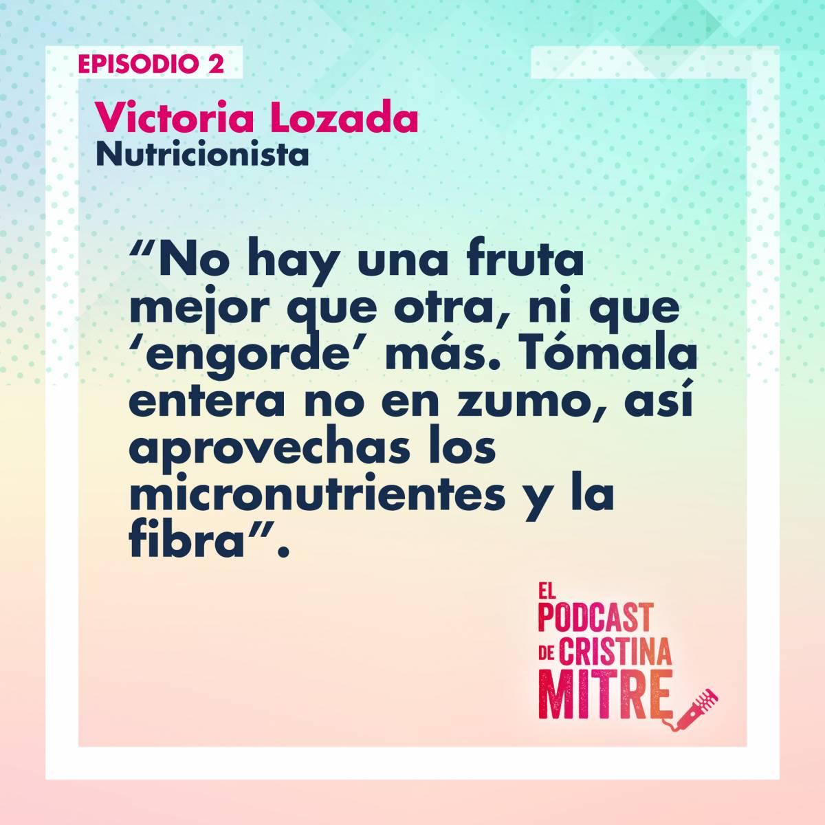 el podcast de cristina mitre Victoria Lozada