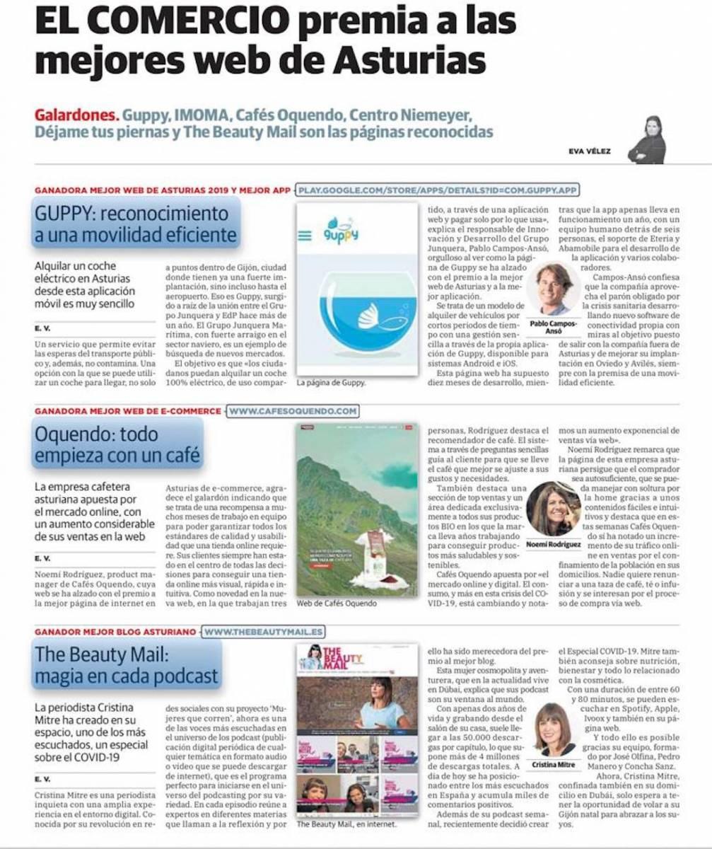 premio El Comercio mejor web de Asturias