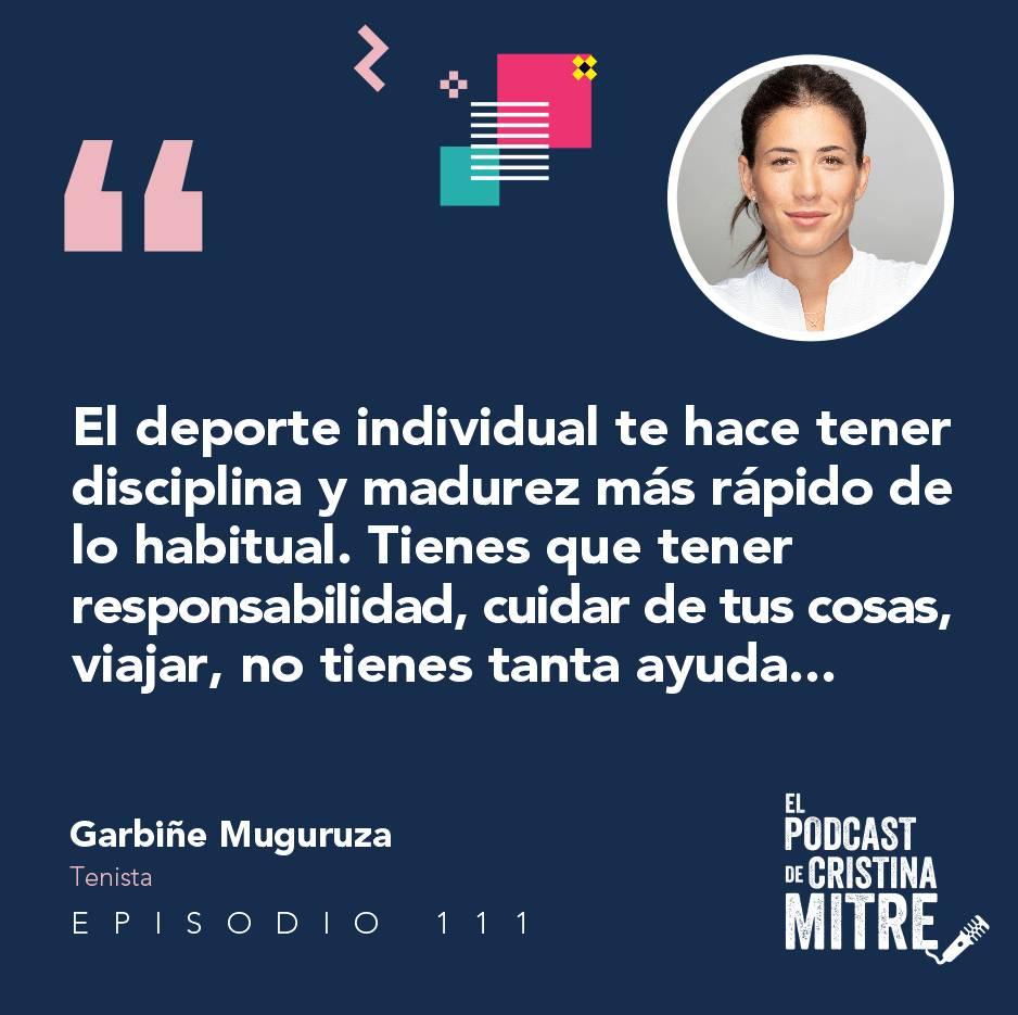 Garbiñe Muguruza El podcast de Cristina Mitre