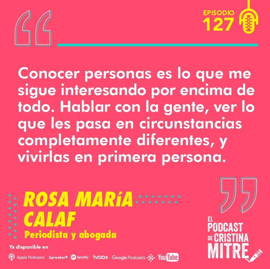 Rosa María Calaf fake news