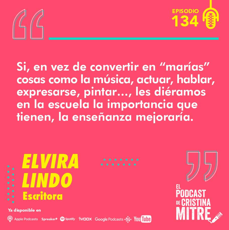 Elvira Lindo El podcast de Cristina Mitre