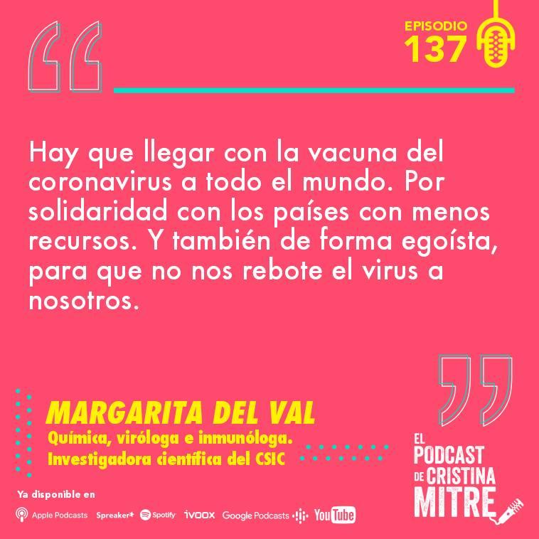 Margarita del Val vacuna coronavirus