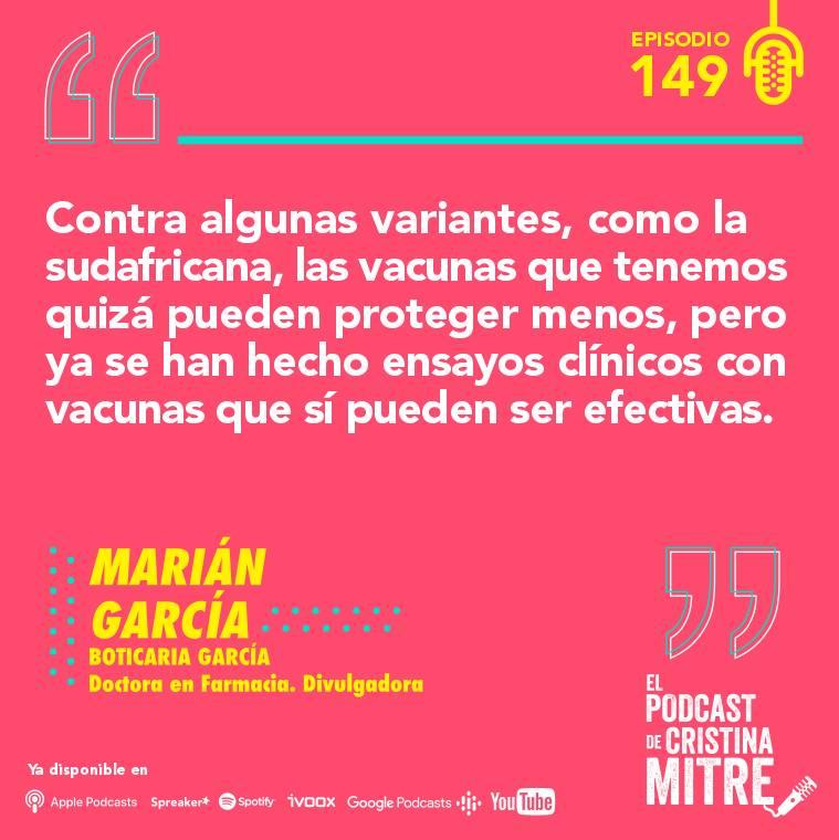 Boticaria García El podcast de Cristina Mitre vacunas COVID-19