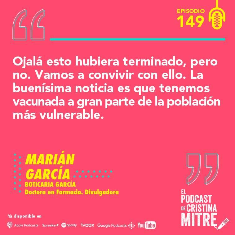 Boticaria García El podcast de Cristina Mitre inmunidad coronavirus