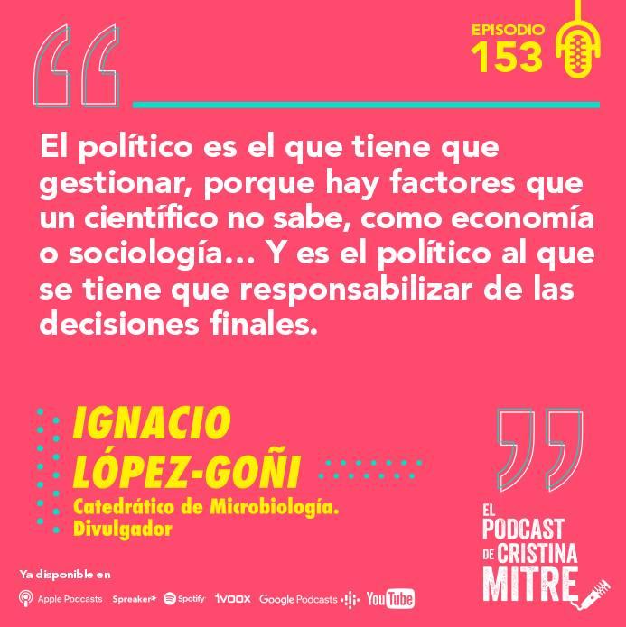 Ignacio López Goñi El podcast de Cristina Mitre infodemia
