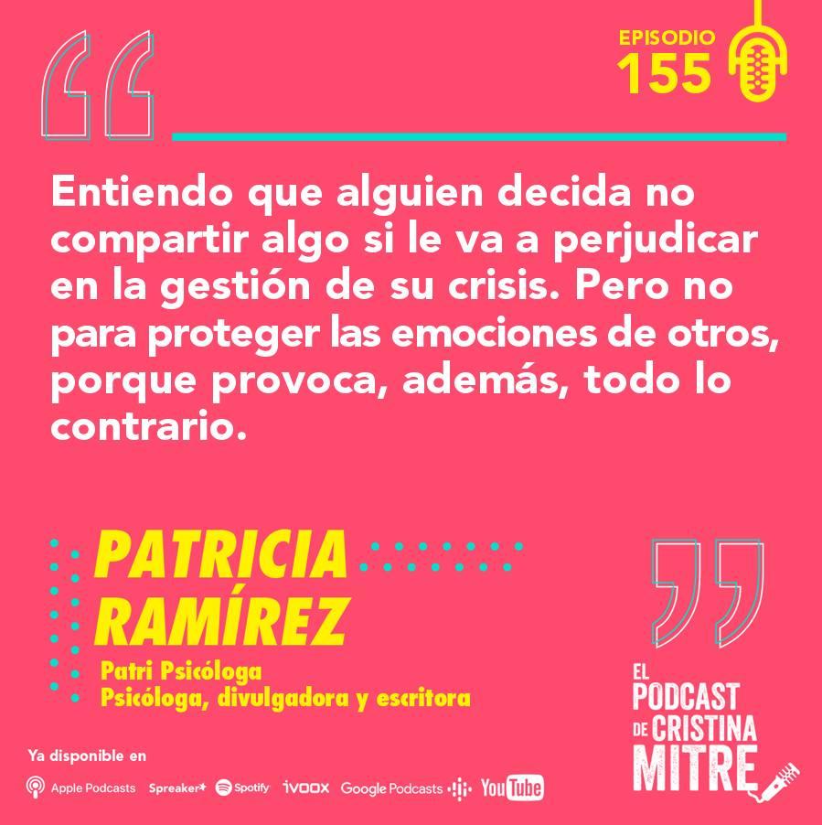 Patricia Ramírez Cristina Mitre emociones aceptación