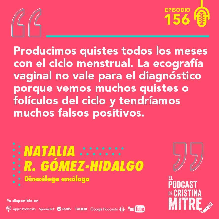 cáncer de ovario El podcast de Cristina Mitre diagnóstico