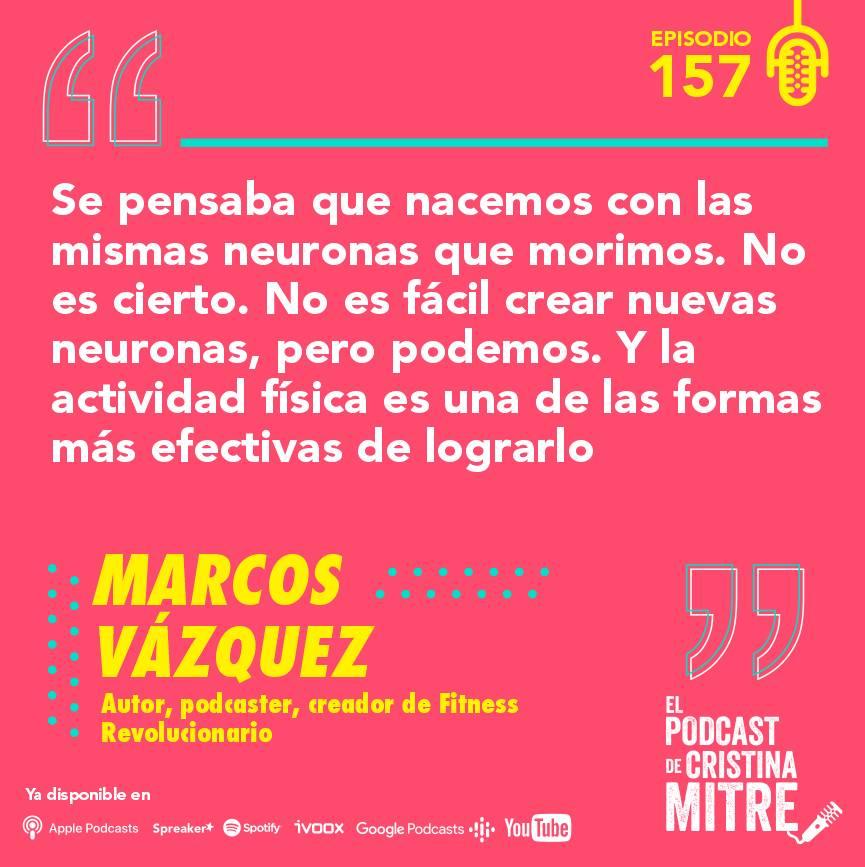 podcast Cristina Mitre Marcos Vázquez cerebro ejercicio
