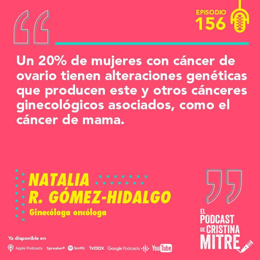 cáncer de ovario El podcast de Cristina Mitre síntomas genética