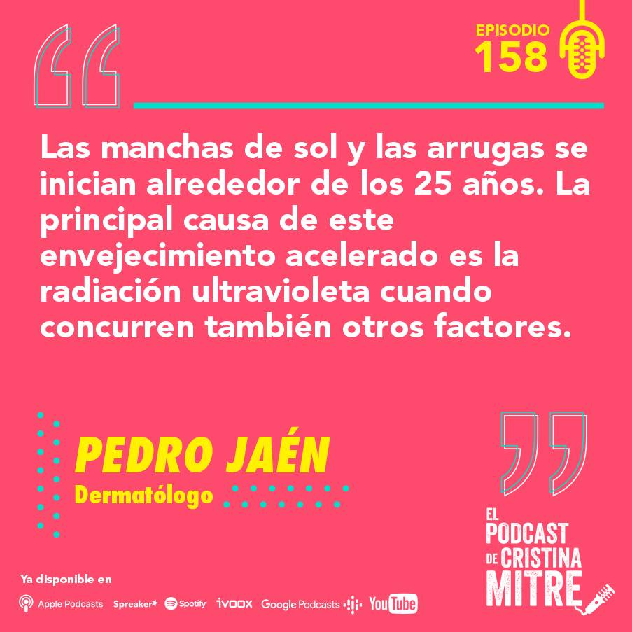 Podcast Cristina Mitre Pedro Jaén Exposoma Piel arrugas envejecimiento
