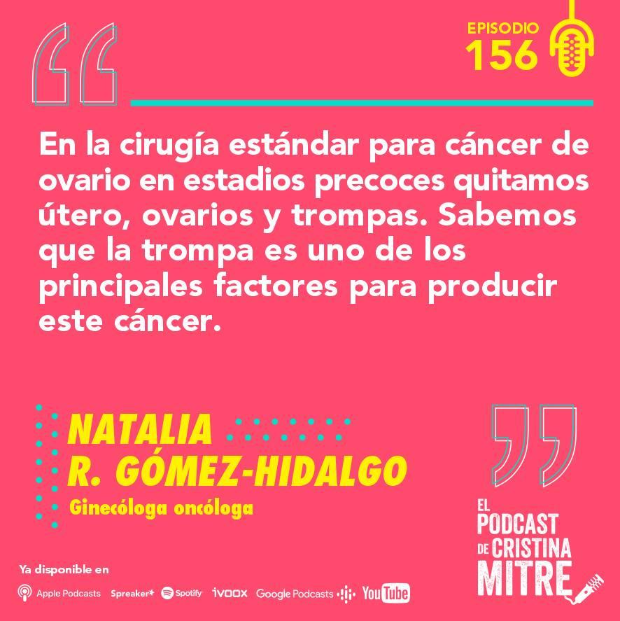 cáncer de ovario El podcast de Cristina Mitre tratamiento