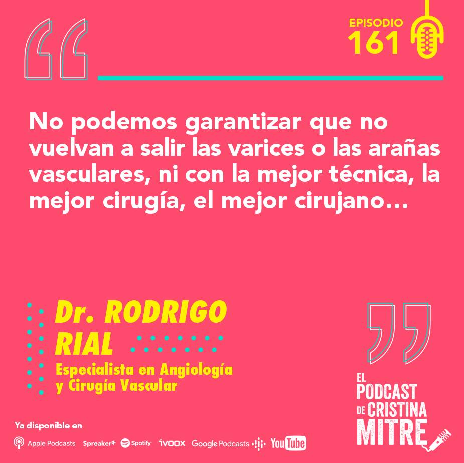 Cirugía vascular Podcast de Cristina Mitre Dr. Rial