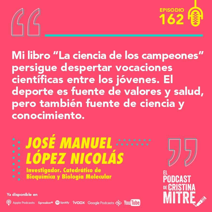 el podcast de cristina mitre deporte y ciencia Lopez nicolas