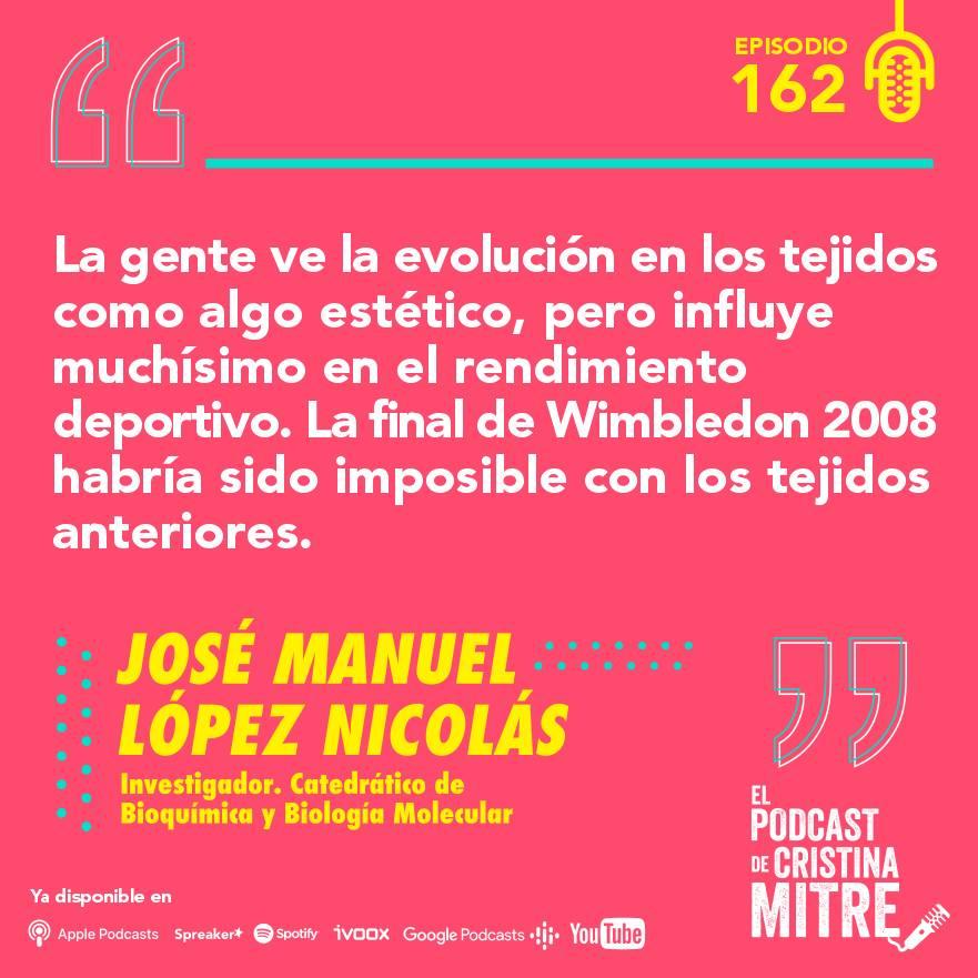 el podcast de cristina mitre Lopez nicolas química deporte