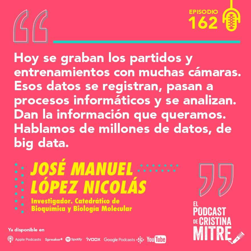 el podcast de cristina mitre Lopez nicolas big data deporte