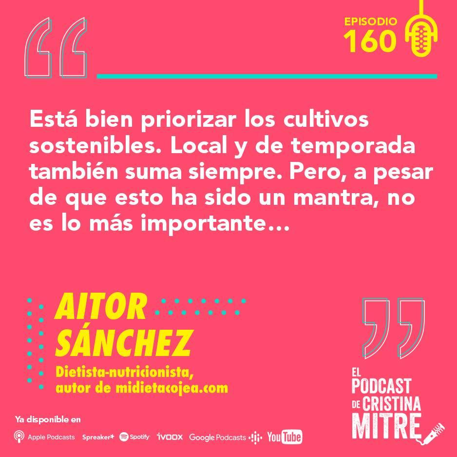 Aitor Sanchez alimentación dieta nutrición Cristina Mitre