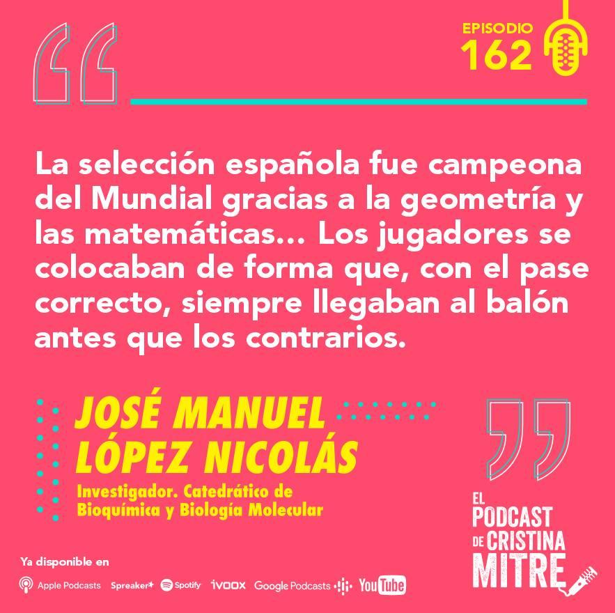 el podcast de cristina mitre Lopez nicolas matemáticas deporte
