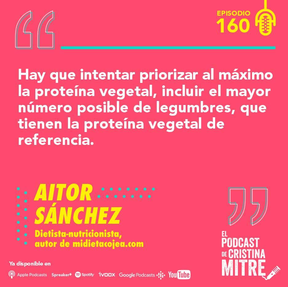Aitor Sanchez dieta sostenible nutrición Cristina Mitre