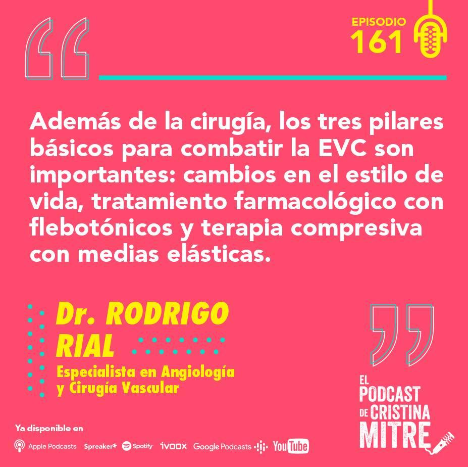Enfermedad venosa crónica Podcast de Cristina Mitre Dr. Rial