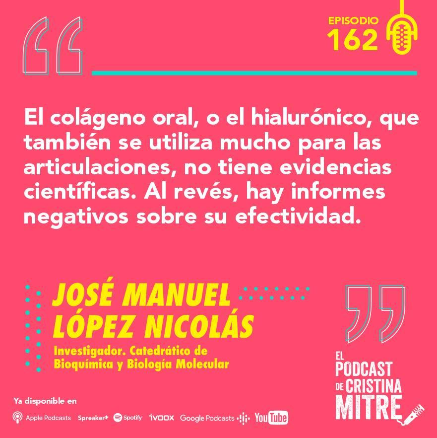 el podcast de cristina mitre Lopez nicolas colágeno deporte