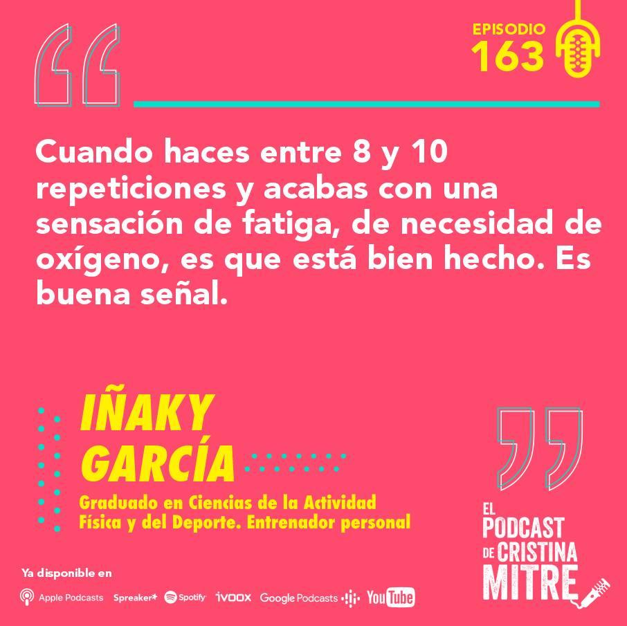 Iñaky García El podcast de Cristina Mitre fuerza pesas