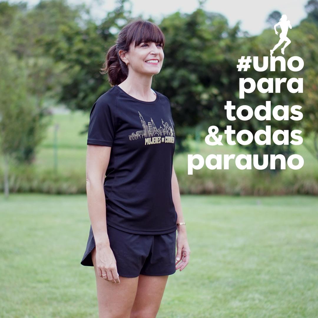 camiseta mujeres que corren