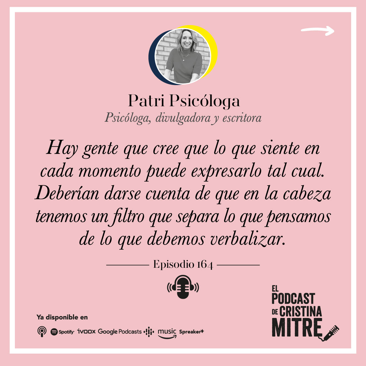 Patri Psicóloga envidia admiración Cristina Mitre