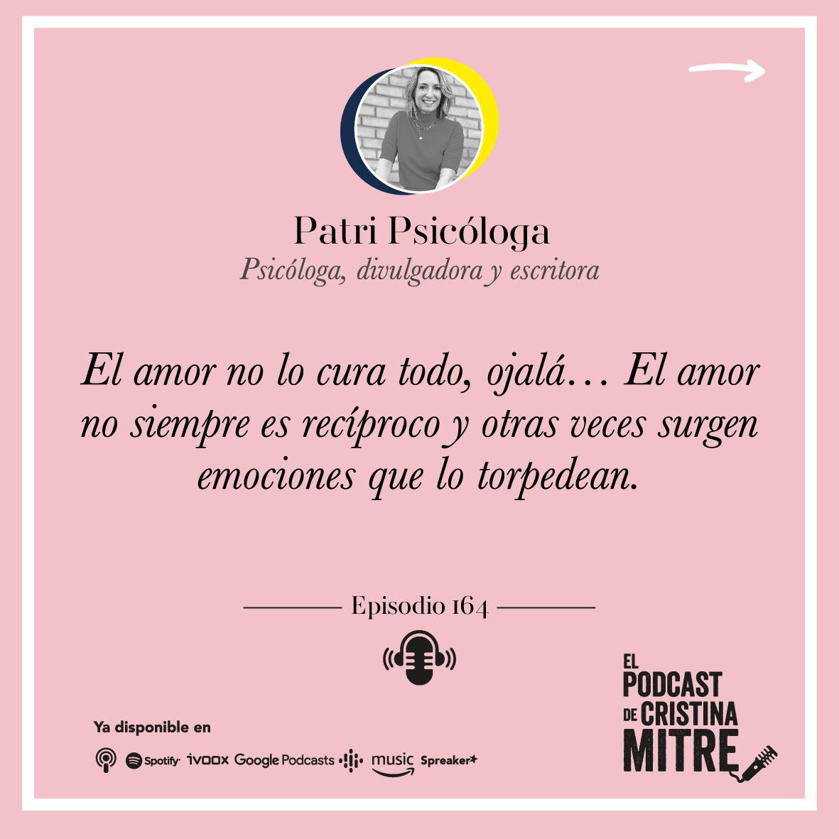 Patri Psicóloga amor emociones Cristina Mitre